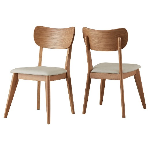 parker mid century dining chair (set of 2) - walnut - inspire q