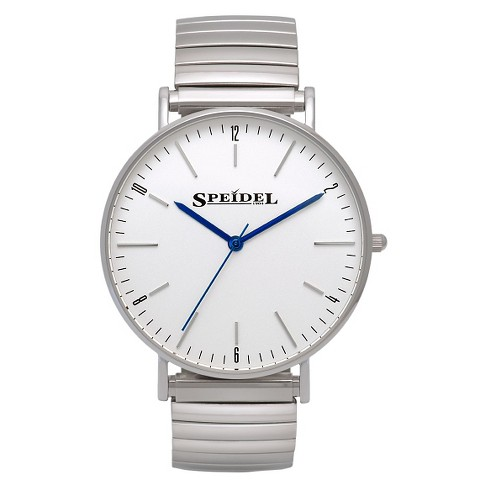 Speidel Ultra Thin Men's Expansion Watch, White Face - Stainless Steel - image 1 of 1