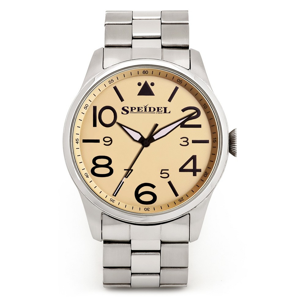 Speidel Pilot Watch, Yellow Face - Stainless Steel, Mens, Silver