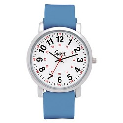 Speidel Medical Watch, White Face, Silicone Band - Blue