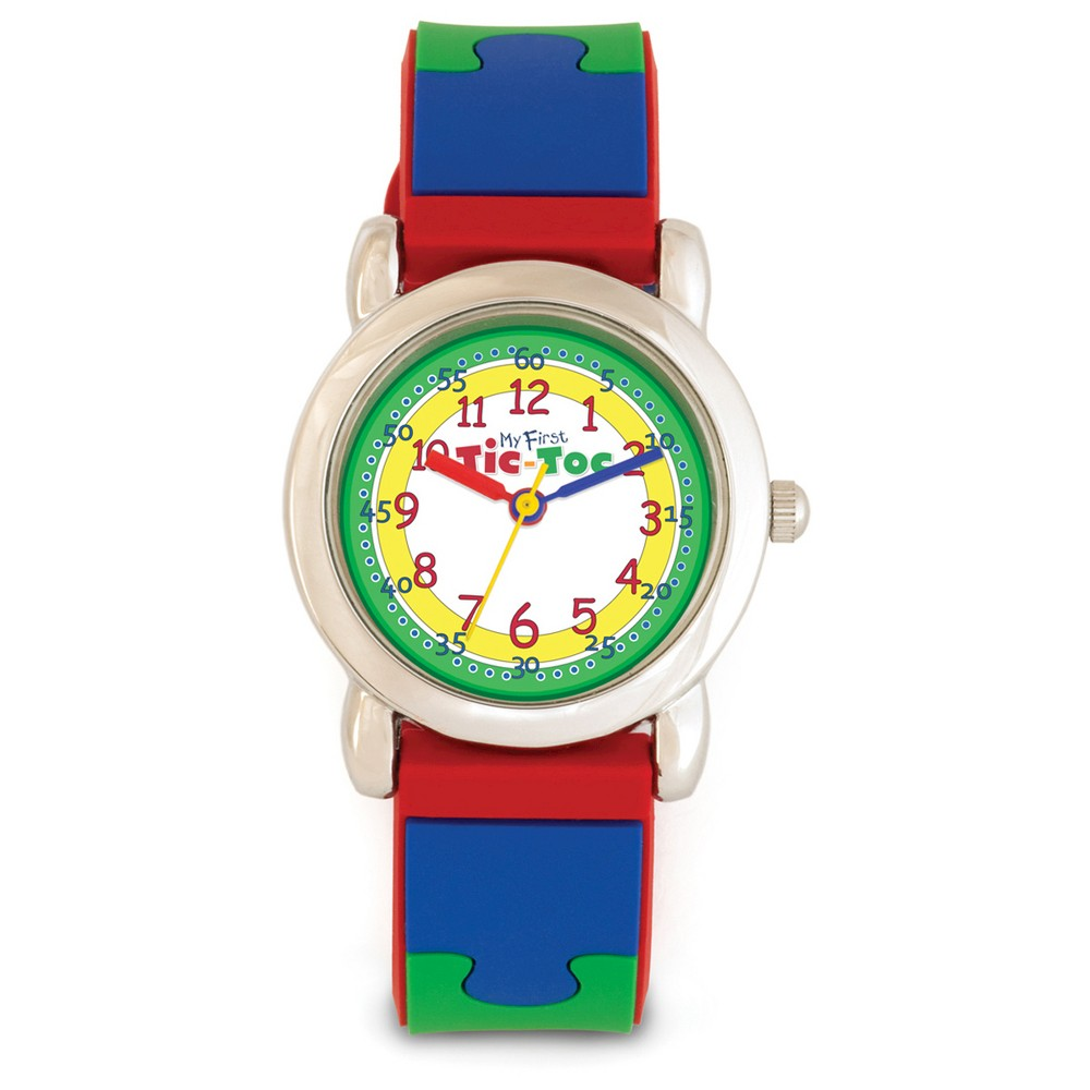 Educational Kids Puzzle Watch - Red,Blue,Green and Yellow, Kids Unisex, Size: Small