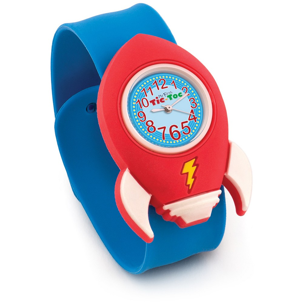 Kids Rocket Ship Slap Watch - Blue And Red, Kids Unisex, Size: Small