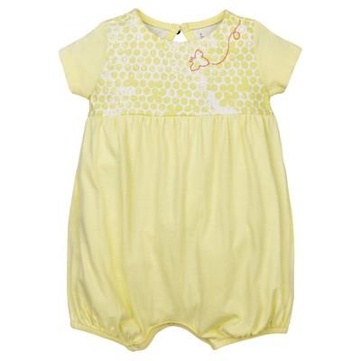 Burt's Bees Baby® Girls' Organic 2 Pack Morning Glory Bubbles Shortalls - Yellow 6-9M