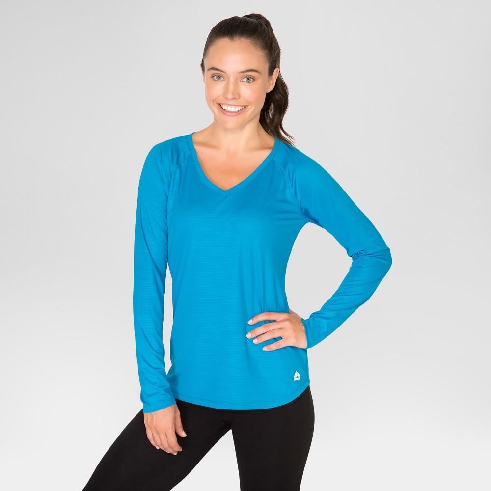 Women's Long Sleeve Embossed T-Shirt - Blue S - Rbx