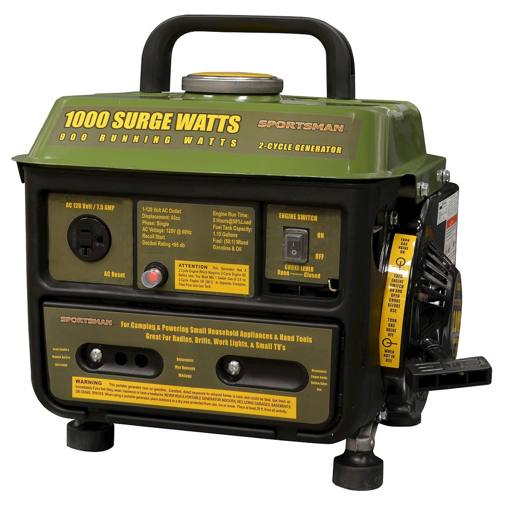 Gasoline 1000 Surge Watt Portable Generator - Green - Spo...