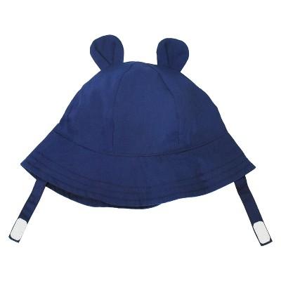 Baby Printed Ear Bucket Hat - Cat & Jack™ Navy 0-6 M