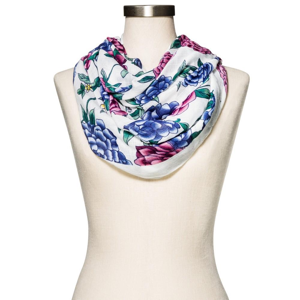Womens Floral Fashion Scarf - Merona White, White Floral