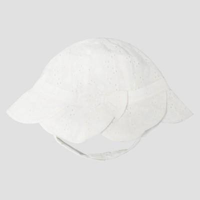 Baby Girls' Eyelet Bucket Hat - Cat & Jack™ White 6-12 M