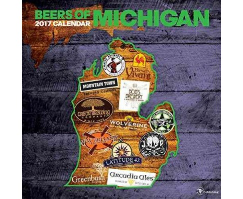 Beer Labels of Michigan 2017 Calendar (Paperback) - image 1 of 1
