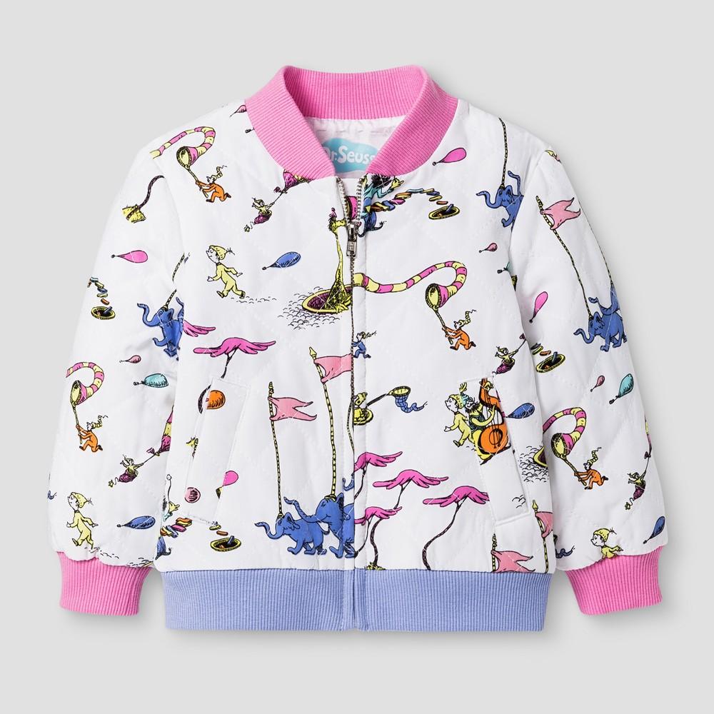 Baby Girls' Dr. Seuss Bomber Jacket from OshKosh Fresh White 12M, Infant Girl's, Size: 12 M