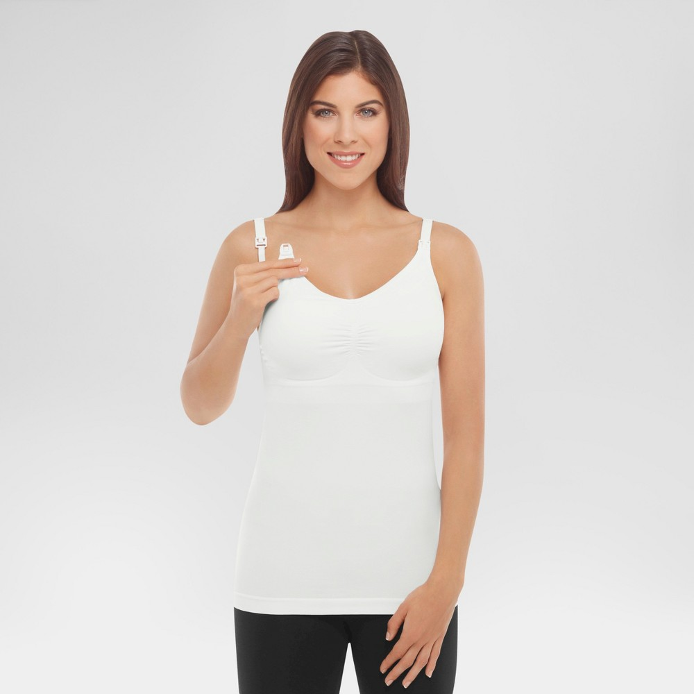 Medela Womens Slimming Nursing Cami with Removable Pads - White L
