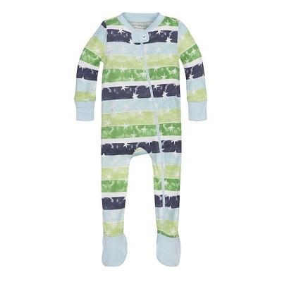 Burt's Bees Baby® Boys' Organic Stars & Stripes Sleeper - Blue 3-6M