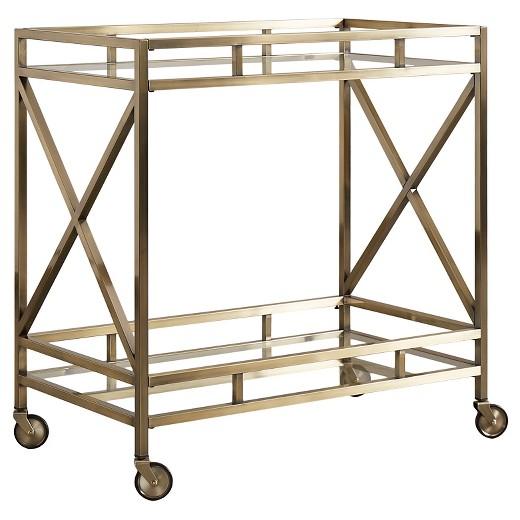 Eloise Metal Gl Bar Cart Antique Br Inspire Q Target