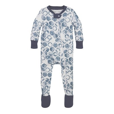 Burt's Bees Baby® Boys' Organic Watercolor Hive Sleeper - Turquoise 3-6M