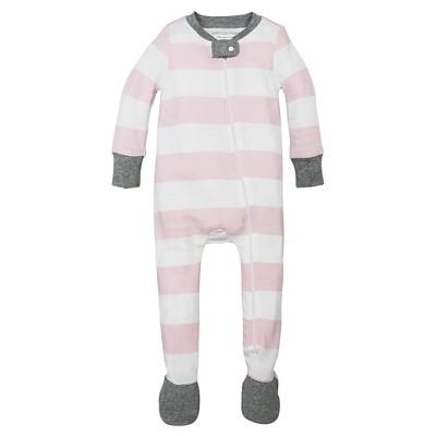 Burt's Bees Baby® Girls' Organic Rugby Stripe Sleeper - Pink 24M