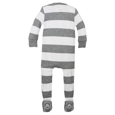 Burt's Bees Baby® Boys' Organic Rugby Stripe Sleeper - Heather Gray 24M