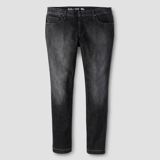 Women's Plus Size Skinny Jeans Black Wash - Ava & Viv™ : Target