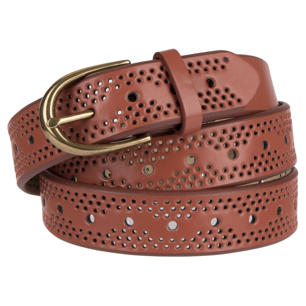Womens Narrow Laser Cut Belt - Mossimo Supply Co. Brown M