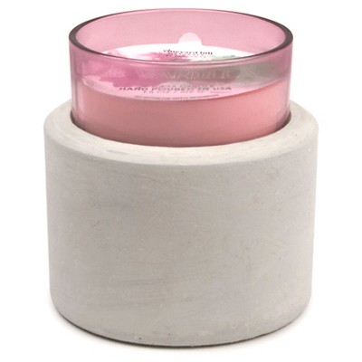 Glass and Concrete Container Candle Vanilla & Rosewood 11oz - Vineyard Hill Naturals by Paddywax®