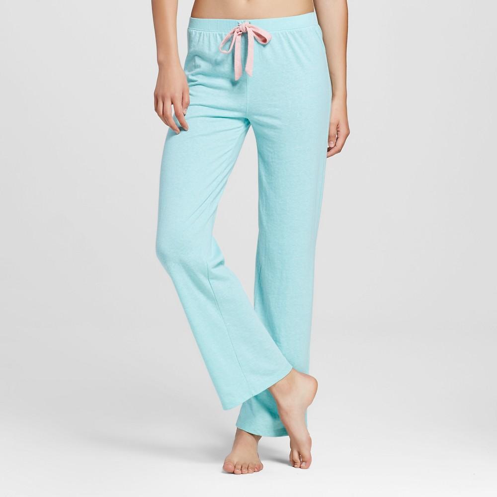 WallFlower Womens Super Soft Pajama Pants - Aqua Heather L, Blue