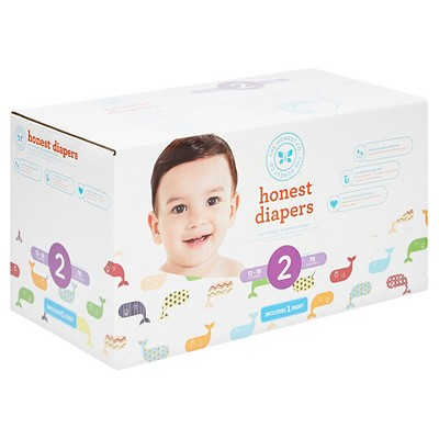 Honest Company Club Pack Diapers, Whales - Size 2 (76 ct)