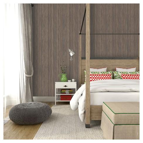 Tempaper Grasscloth Removable Wallpaper Bronze Target