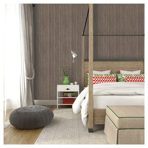 Removable Wallpaper tempaper grasscloth removable wallpaper - bronze : target
