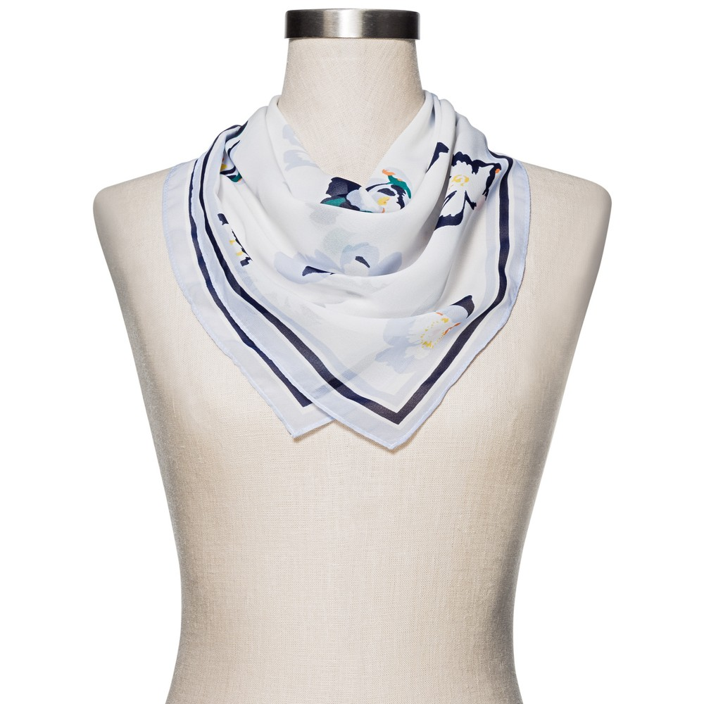 Womens Floral Fashion Scarf - Merona White