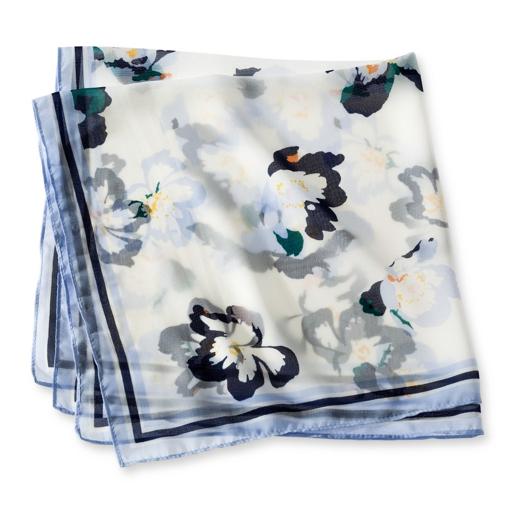 Womens Fashion Scarf - Merona White Floral One Size