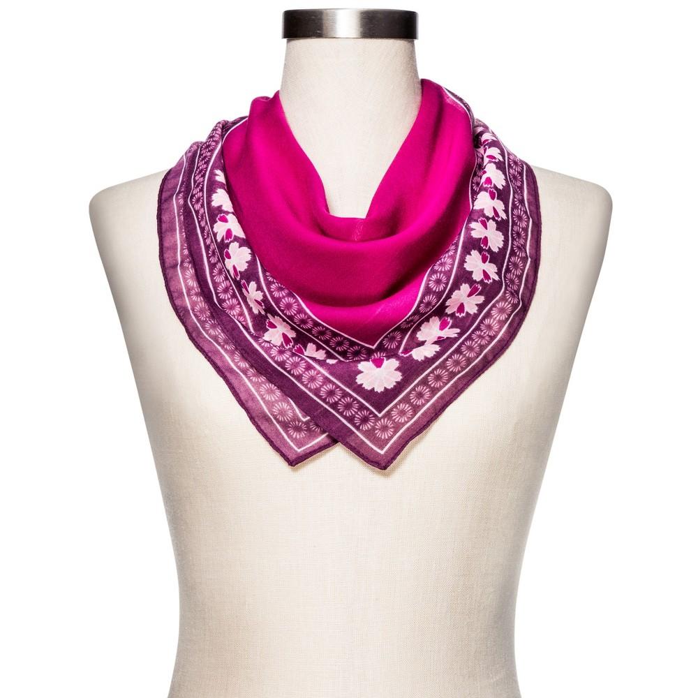 Womens Fashion Floral Scarf - Merona Purple