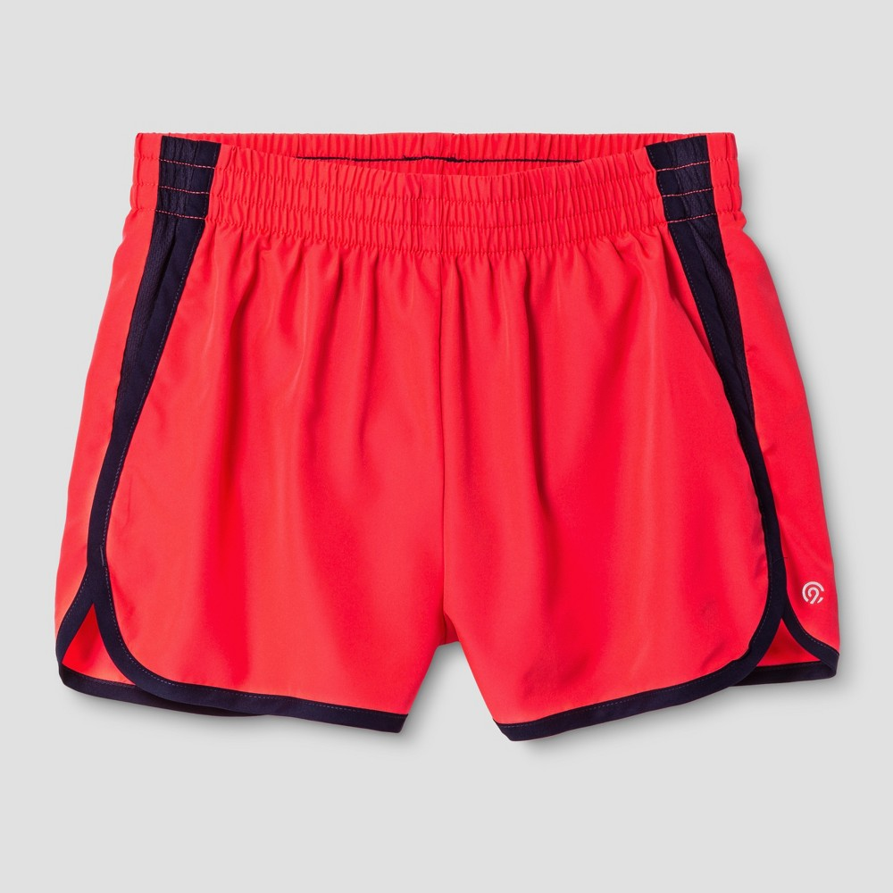 Girls' Run Shorts - C9 Champion Neon Flare L, Red