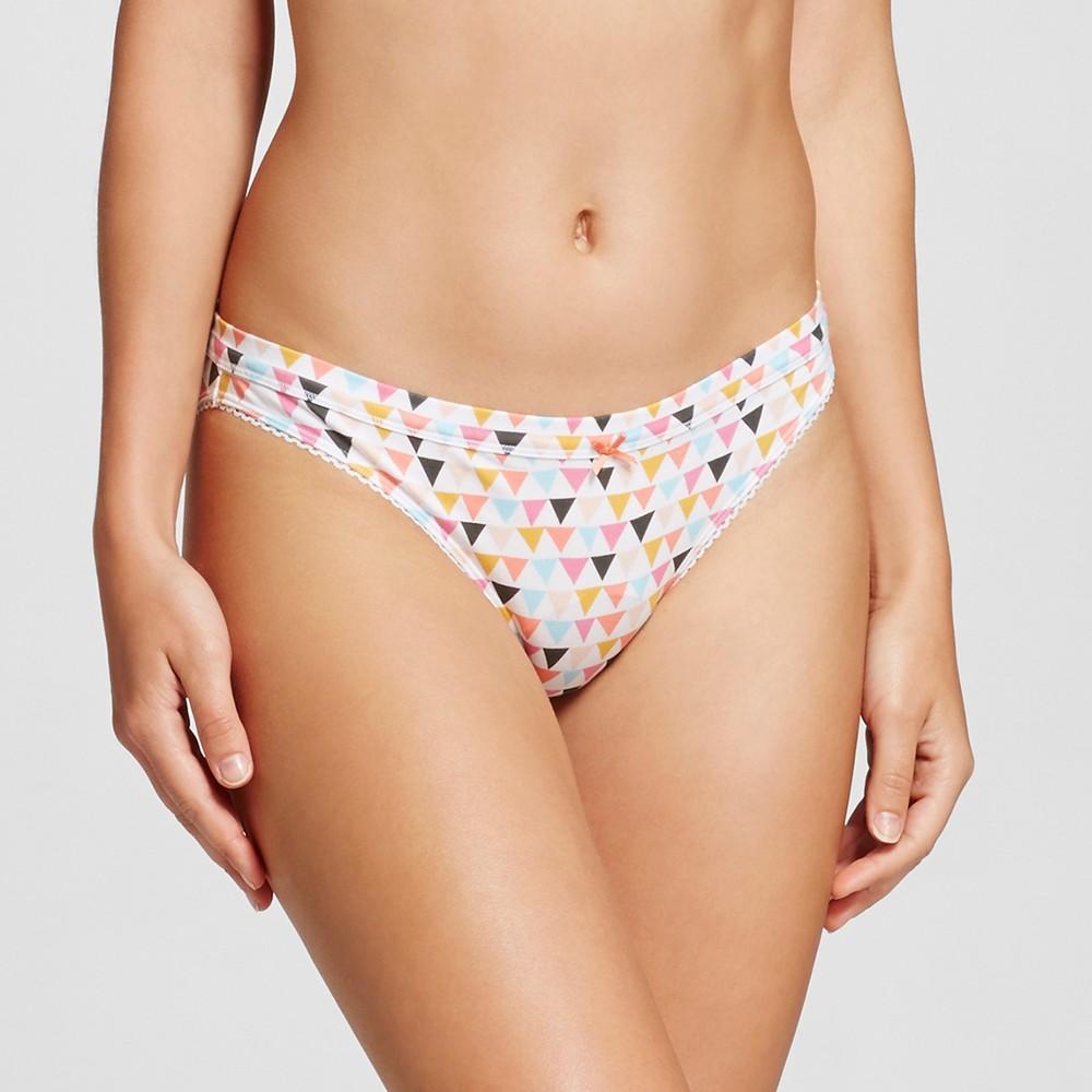 Womens Cotton Bikini Briefs - Xhilaration - Triangle Print S, Multi-Colored