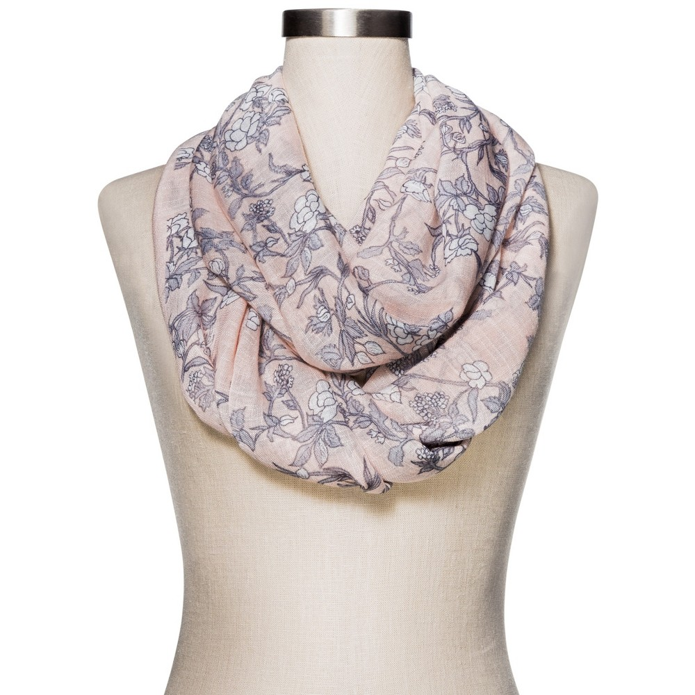 Womens Fashion Floral Scarf - Merona Pink