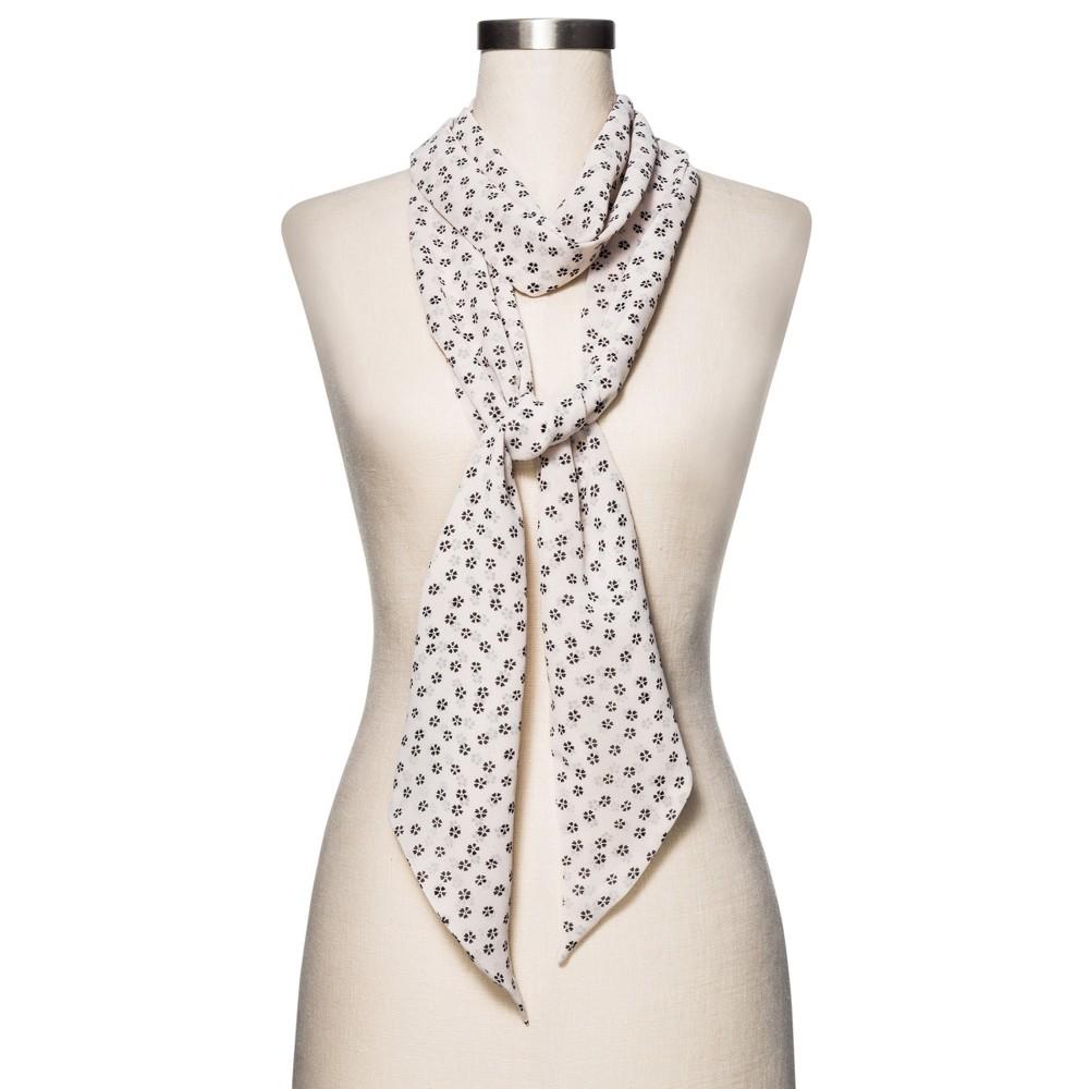 Womens Fashion Floral Scarf - Merona Cream (Ivory)