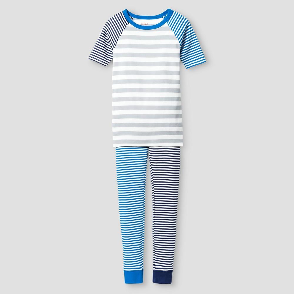 Boys Organic Cotton Pajama Set Cat & Jack- Blue 4