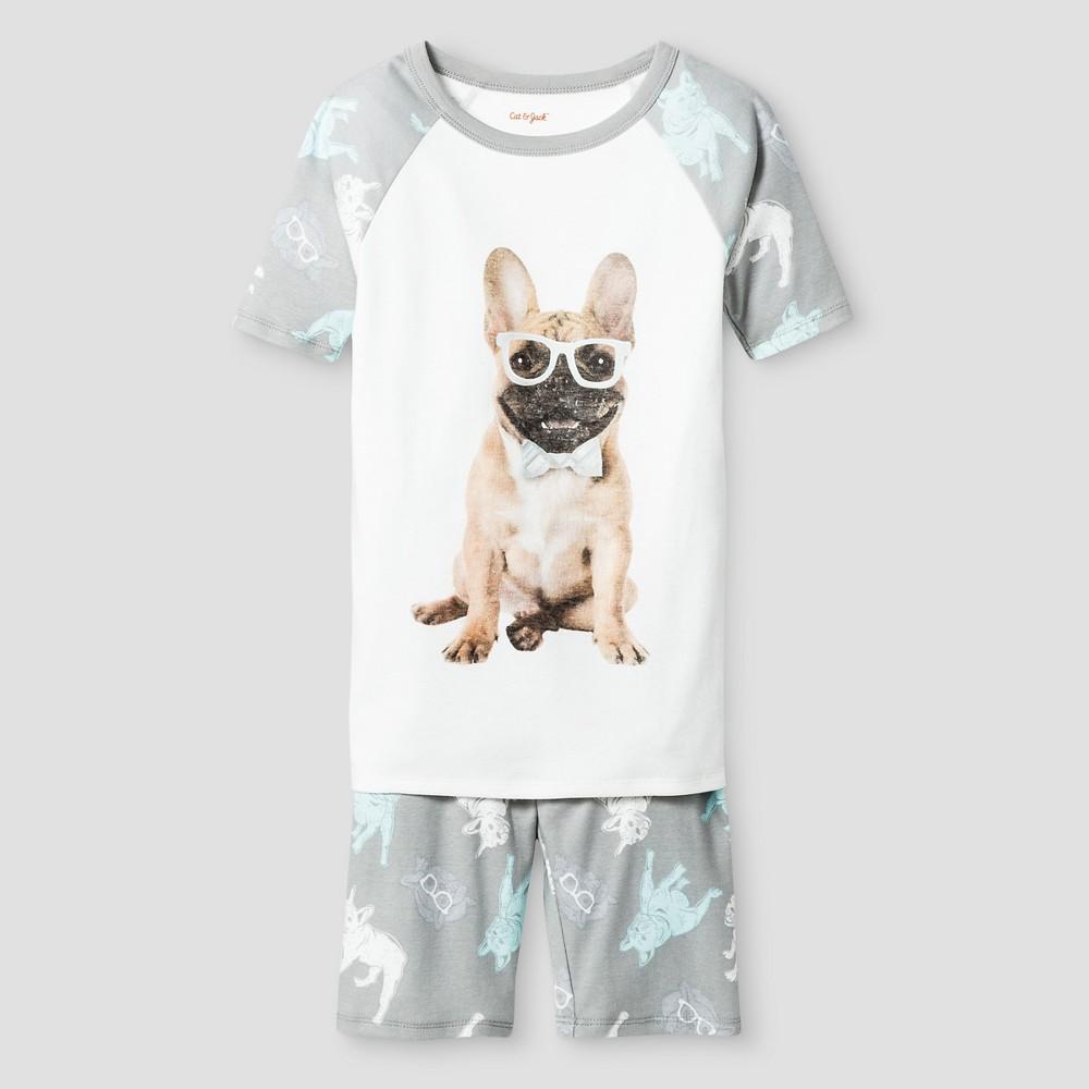 Boys Organic Cotton Pajama Set - Cat & Jack Gray 4
