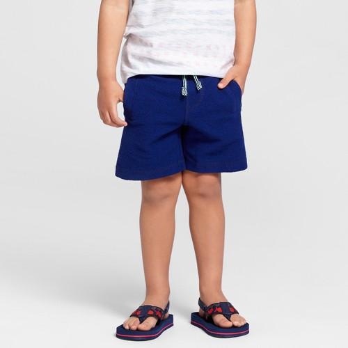 Toddler Boys' Knit Fashion Shorts Cat & Jack - Oxygen Blue 4T, Toddler Boy's