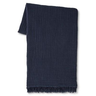 Navy Gauze Throw Blanket - Threshold™