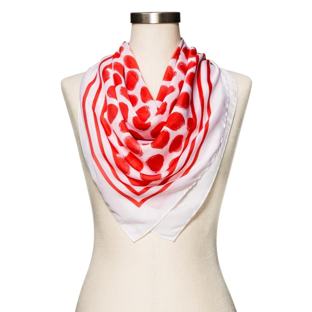 Womens Orange Polka Dot Fashion Scarf - Merona