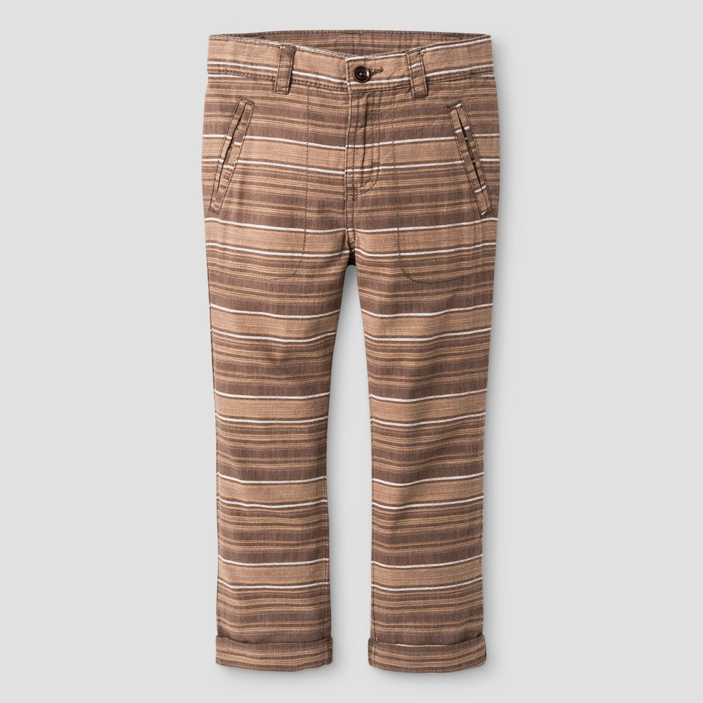 Toddler Boys Chino Pants Genuine Kids from OshKosh Oak Brown 5T, Gray
