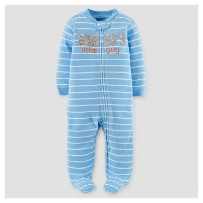 Baby Boys' Mommy's Little Guy Cotton Sleep N' Play - Just One You™ Made by Carter's® Blue Stripe NB