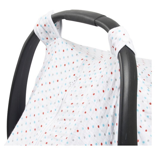 Bebe Au LaitR Car Seat Cover Muslin Polka Target