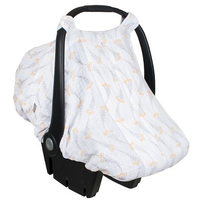 Bebe au Lait® car Seat Cover, Muslin, Wildflower