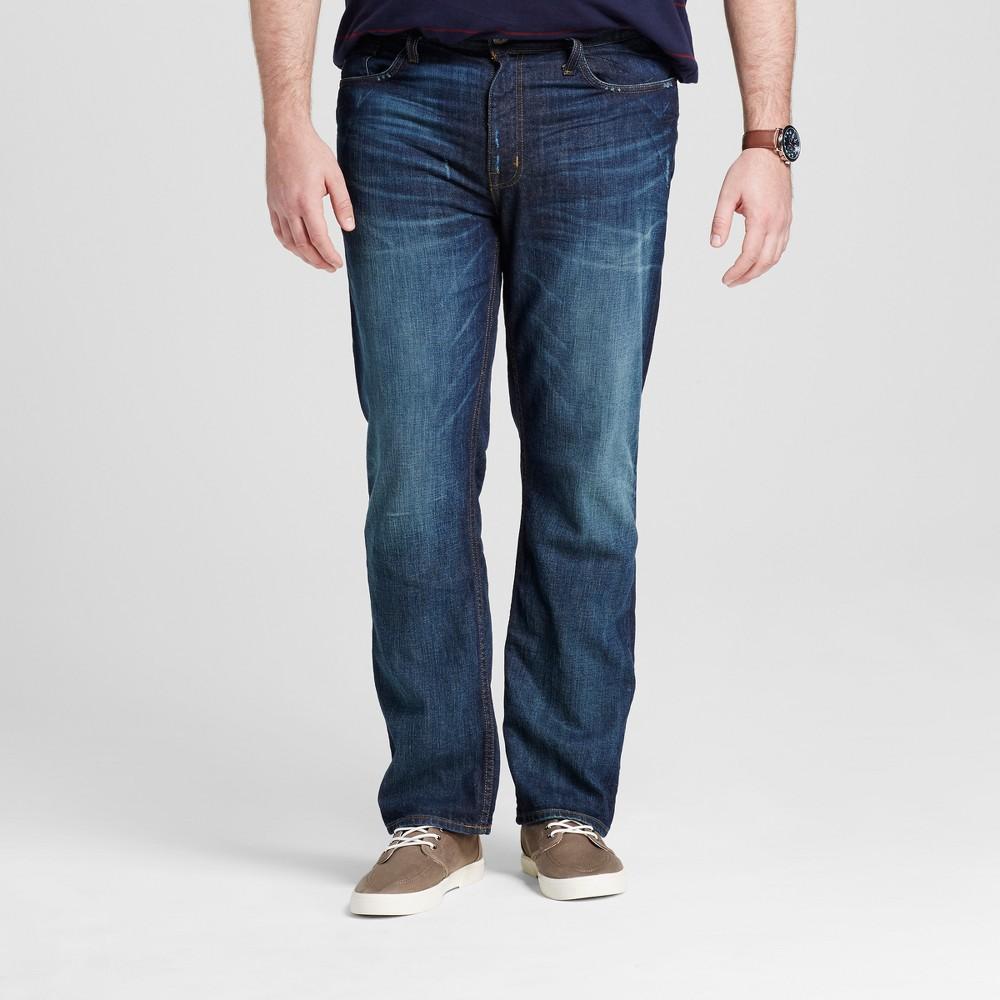 Mens Big & Tall Slim Straight Fit Jeans - Mossimo Supply Co. Dark Wash 56x32, Blue