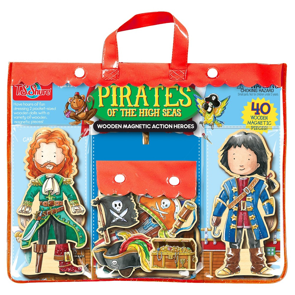 T.S. Shure Pirates of the High Seas Wooden Magnetic Action Heroes