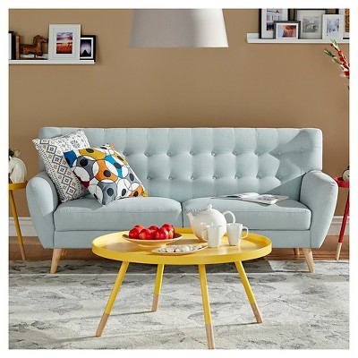 tracy mid century button tufted sofa inspire q