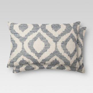 2pk ikat oblong throw pillows threshold - Decorative Pillows Target