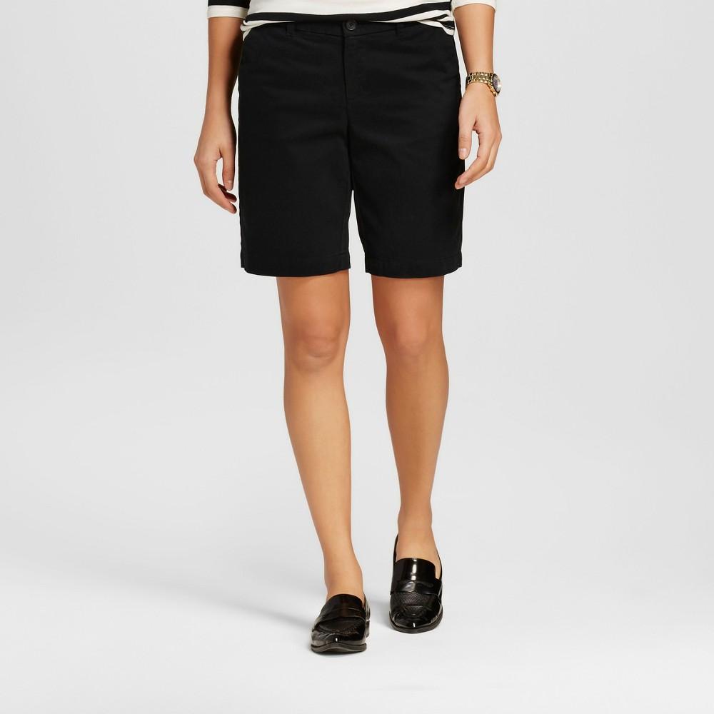 Womens 9 Core Chino Shorts Black 16 - Merona