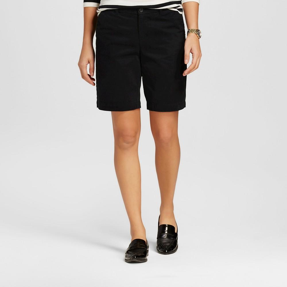 Womens 9 Core Chino Shorts Black 10 - Merona