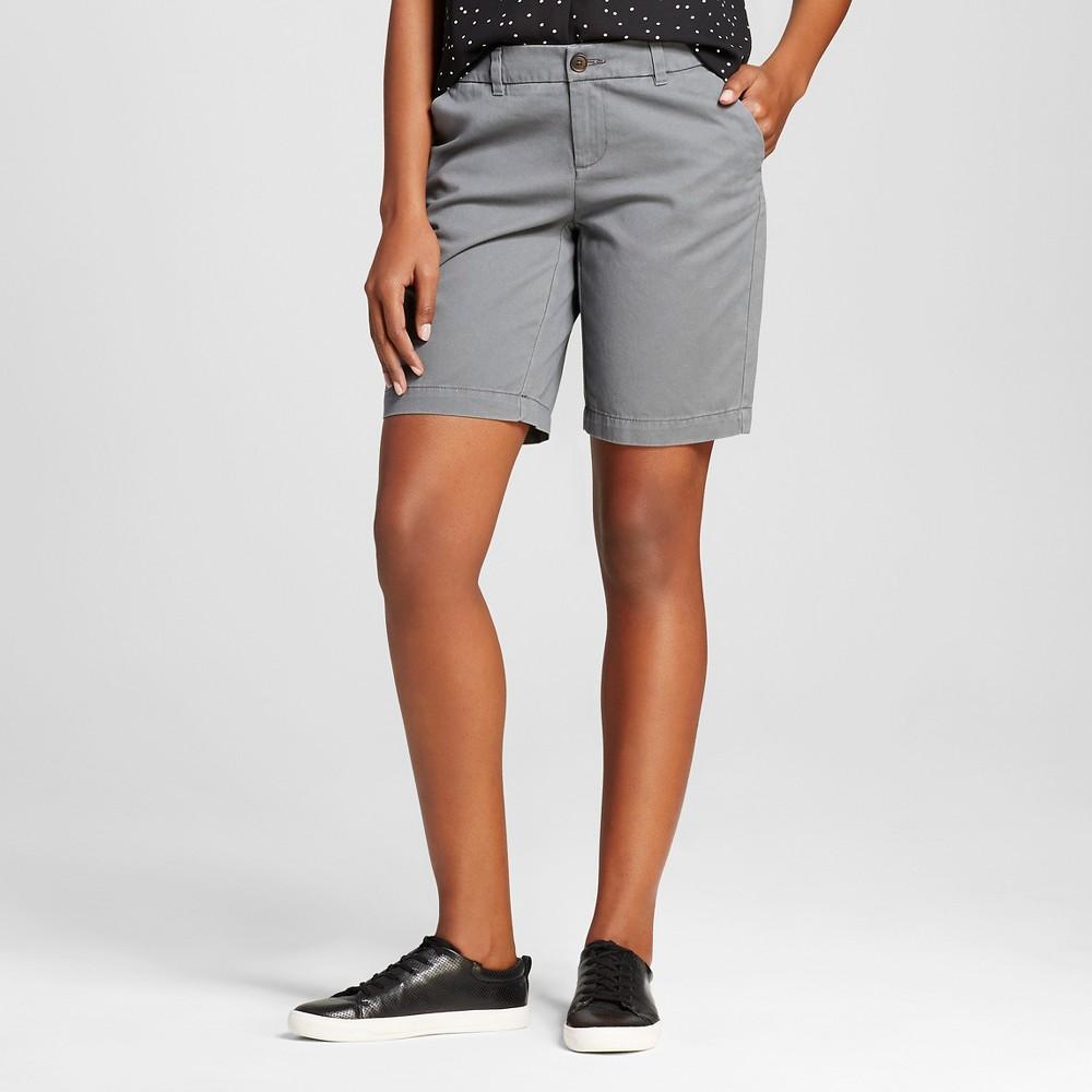 Womens 9 Core Chino Shorts Gray 4 - Merona, Thundering Gray
